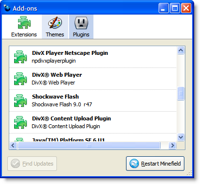 Firefox 3 Add-ons, Plug-ins