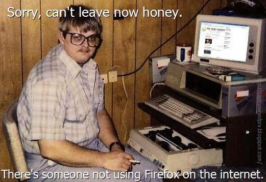 Funny Firefox Fans Picture Joke