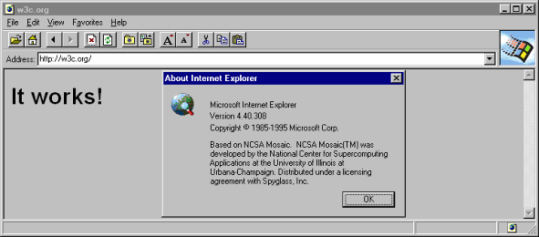 Internet Explorer 1 (IE 1) Screenshots