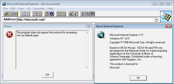 Internet Explorer 1.5 (IE 1.5) Screenshots