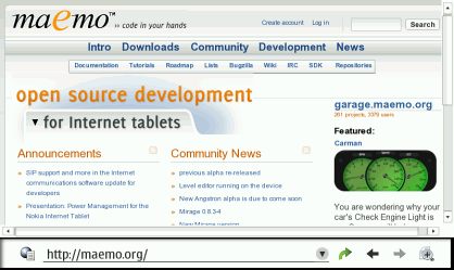 Maemo Screenshot