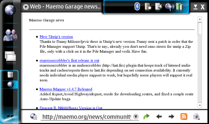 Maemo Screenshot 2