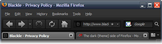 2 Nice Firefox 3 Dark (Grey, Black) Themes
