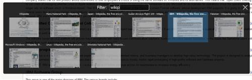 Firefox 3.1 Tab Filtering