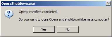 Shutdown PC When Opera Completes Transfers