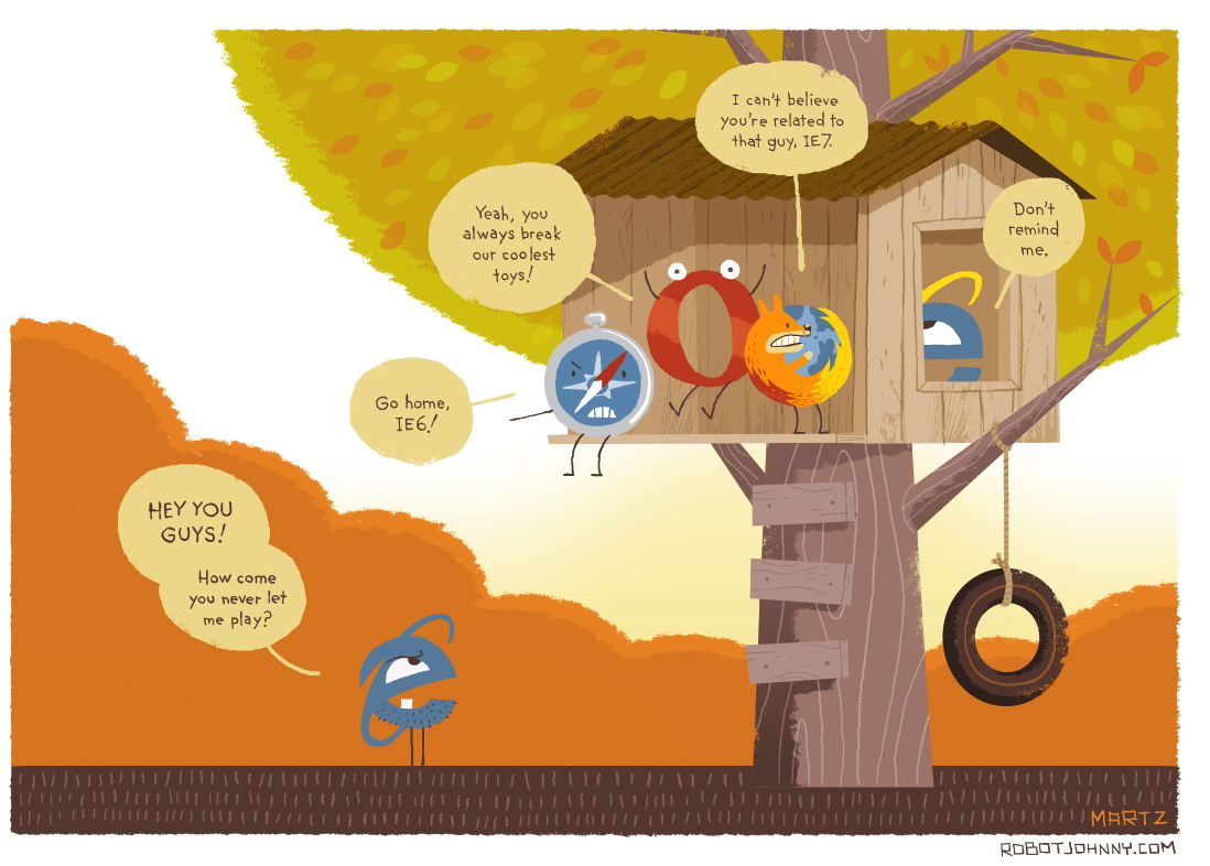 Funny IE6 Cartoon