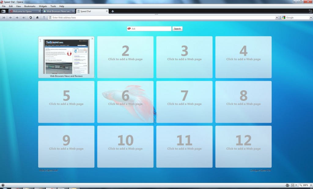 Opera 10 Windows 7