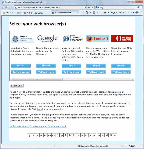 Microsoft and EU Work Out Browser Ballot Screen