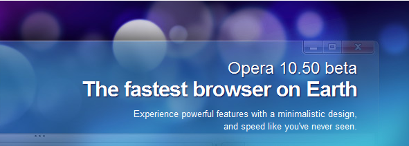 Opera 10.50, Now in Beta