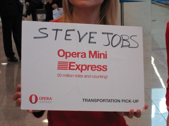 Opera Awaits Steve Jobs at the Barcelona International Airport