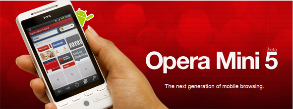 Opera Mini 5 Beta for Android