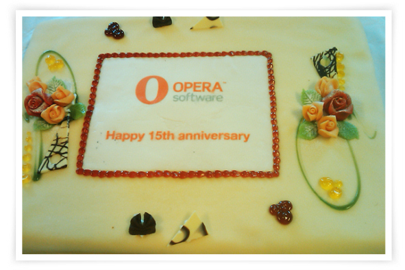 Opera Software 15th Anniversary