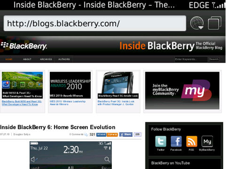 BlackBerry 6 Web Browser