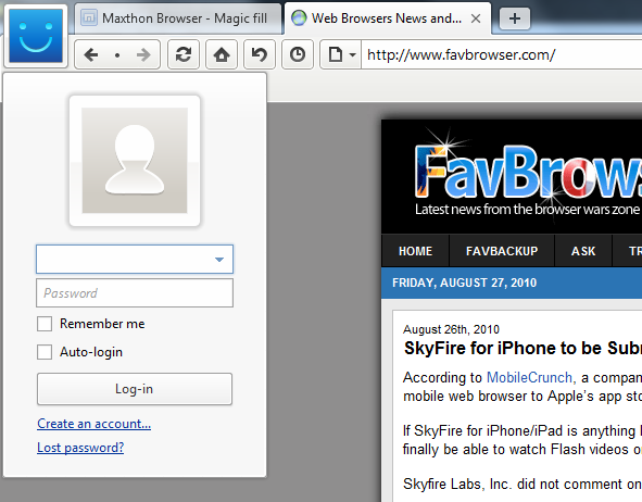 Maxthon 3 Screenshot
