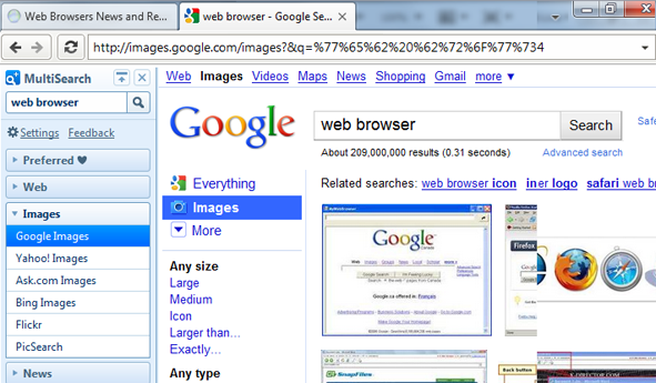 Perfect Browser UI