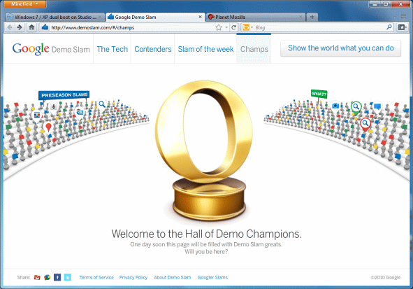 There's a Golden Opera Logo in Google's Demo Slam