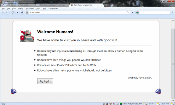 Firefox Easter Egg: about:robots