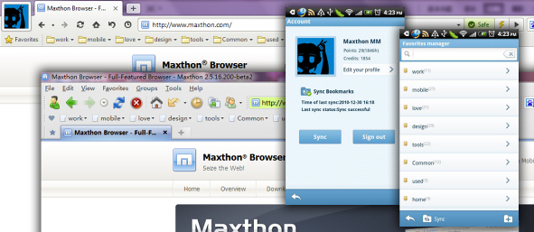 Maxthon Mobile for Android: With Finger Gestures and Multi Platform Synch to