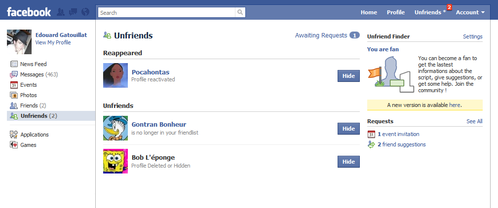 Facebook: Find Who Removed You from the Friends List