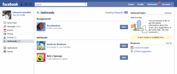 Facebook: Find Who Removed You from the Friends List (Unfriended) and Ignored