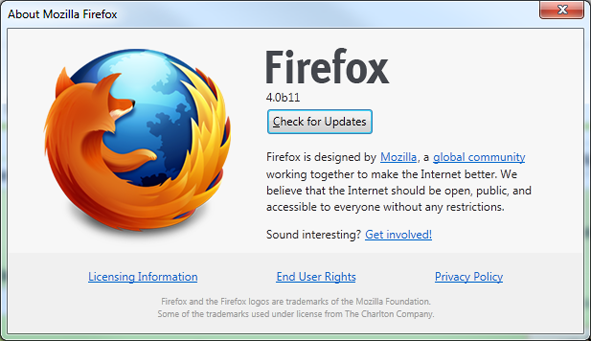 Firefox Borrows Google Chrome Update Procedure