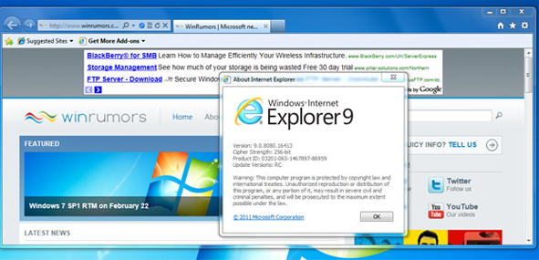 Download Internet Explorer 9 RC