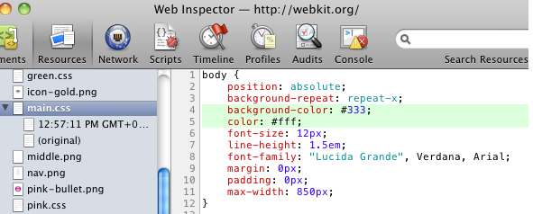 Web Inspector, Now with CSS Tracking