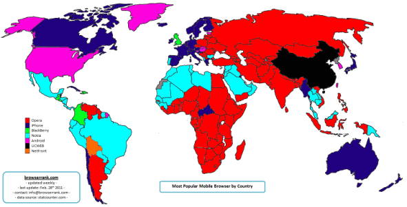 Mobile Browsers Usage By Country