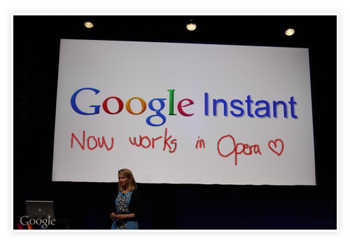Google Instant Now Works In Opera