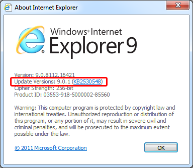 Internet Explorer 9.0.1: Microsoft Revises IE Version Numbering