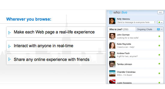 WhoIsLive Makes The Whole Web Social