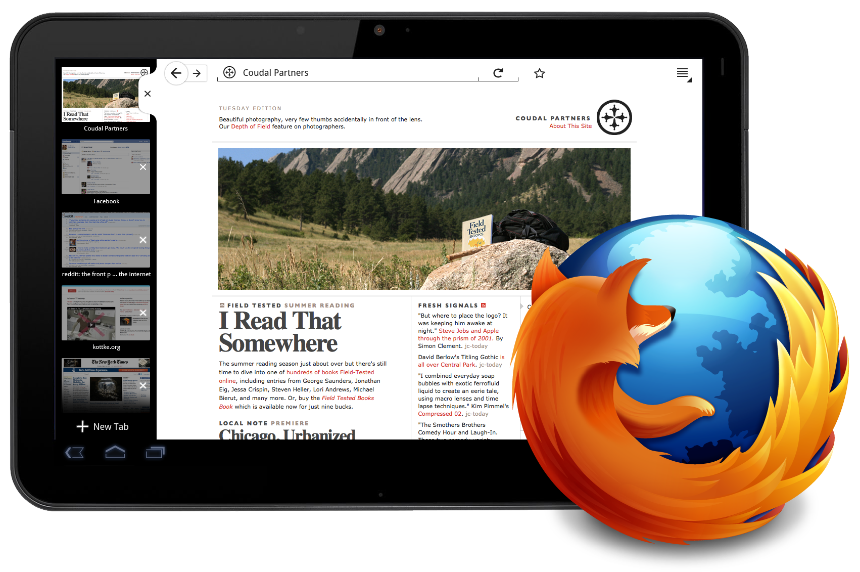 Mozilla Previews Firefox for Tablets