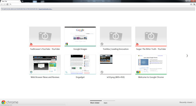 Google Chrome 15 Final Screenshot