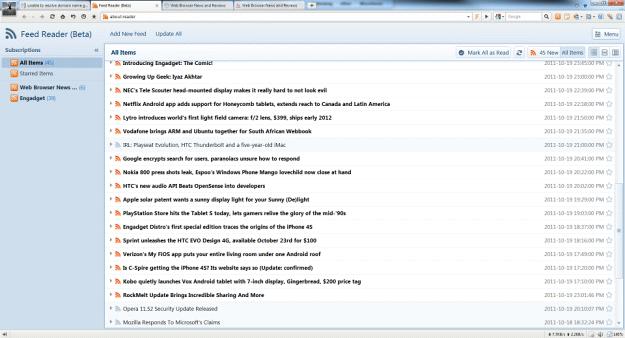 Maxthon 3.2 RSS Reader