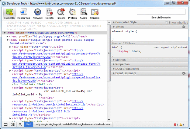 Maxthon 3.2 Developer Tools