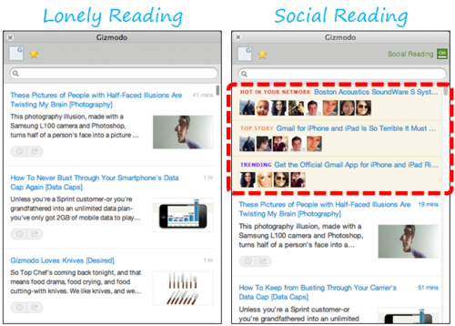 Social Reading Hits RockMelt