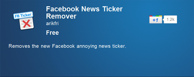 Google Chrome: Disable Facebook News Ticker
