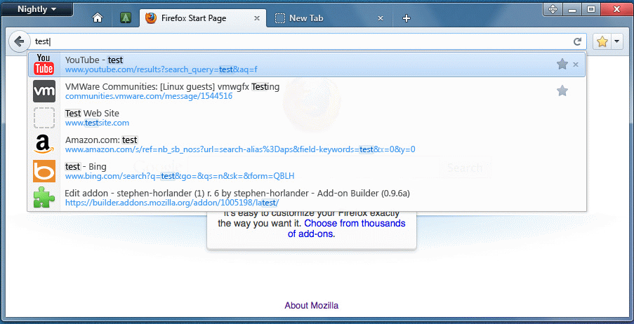 Firefox 10 full screenshot