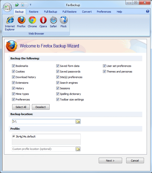 Firefox: How To Backup Firefox Profiles, Bookmarks, Passwords and Other Data