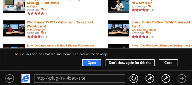 Immersive IE10 On Windows 8 To Offer Browser Switch