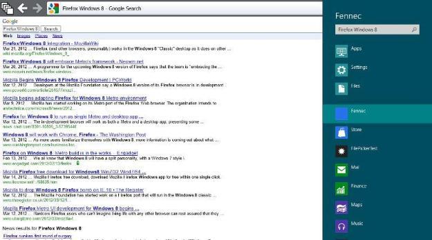 First Firefox Metro For Windows 8 Screenshots