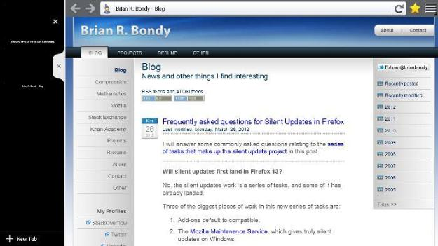 First Firefox Metro For Windows 8 Screenshots