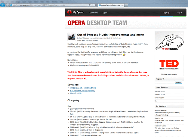 Wednesday Fun: Opera Is Broken In Opera