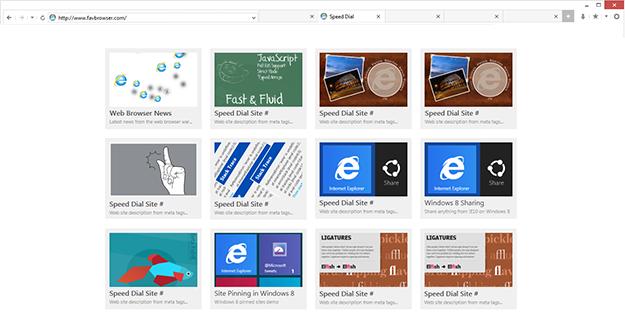 Concept: Internet Explorer 10 Desktop UI