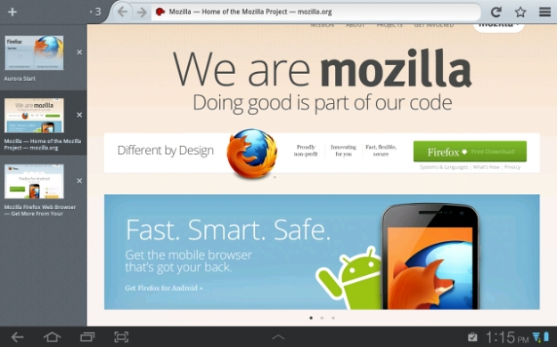 Firefox Beta For Android Brings Tablet Support