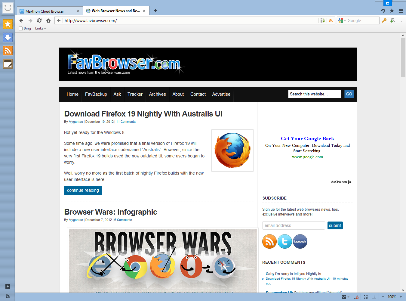 Download Maxthon Cloud Browser