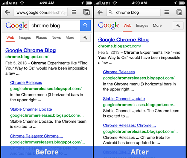 Google Revamps Chrome For iPhone And iPad