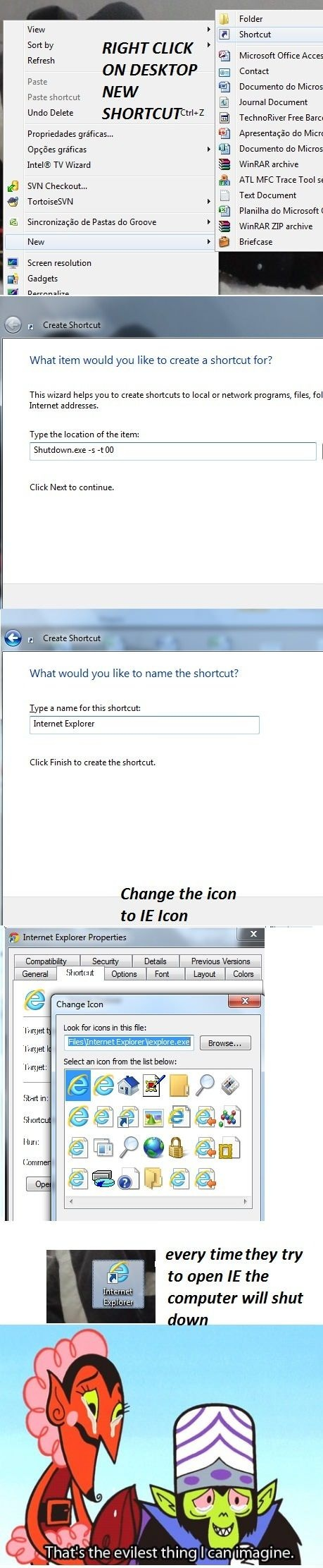 How To Deal With People That Use Internet Explorer (Picture)