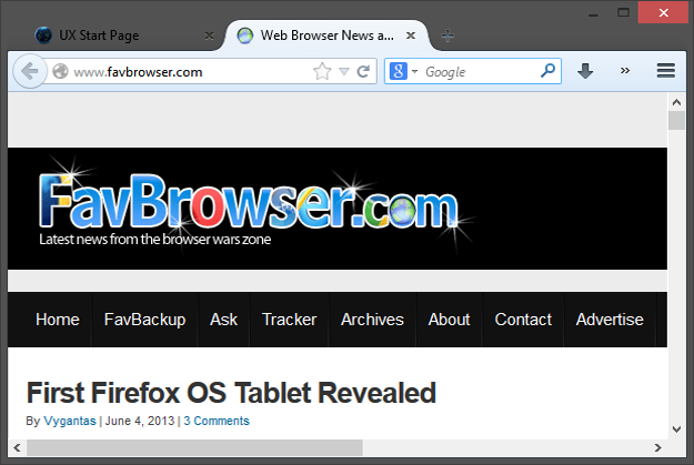 Firefox 25 On Windows 8 With Black Text And Black Tabs