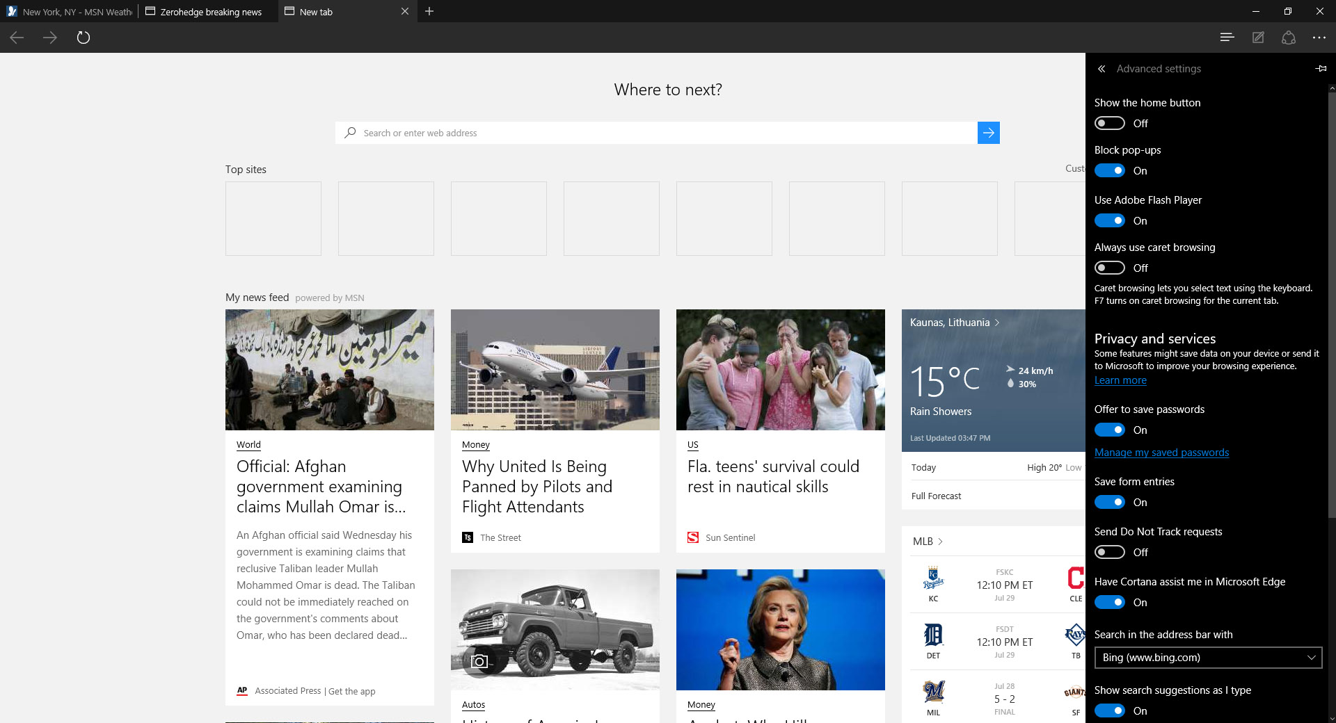This Is Microsoft Edge RTM (Screenshots)